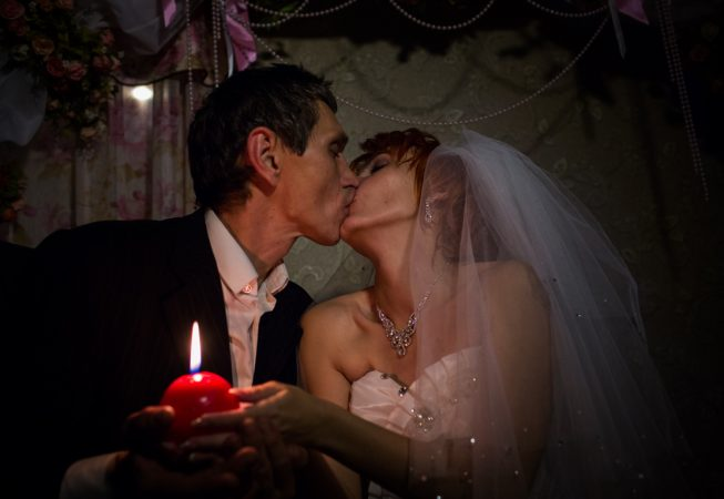 Igor Bezler unit members got married in Gorlovka,  Donetsk region, Ukraine