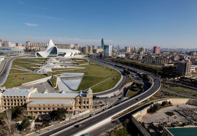 Modern buildings on the Baku skyline