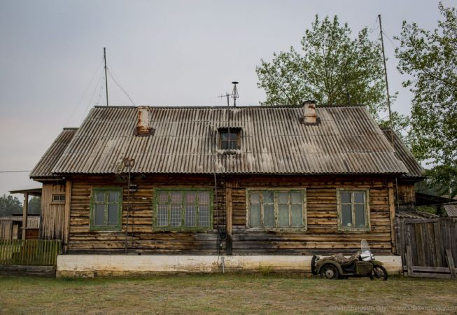 The main building of Khuzhir Airport, on Olkhon Island. The left half is the passenger waiting area, the right is reserved for Prokopyev's living quarters.